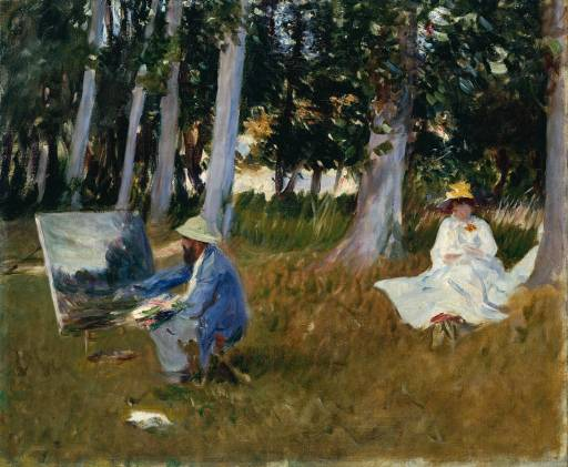 "Claude Monet Painting by the Edge of a Wood"" by John Singer Sargent"