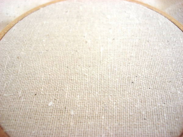 Osnaburg for hand embroidery