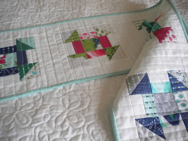 Churn Dash Table Runner - Pattern available on Bluprint.com