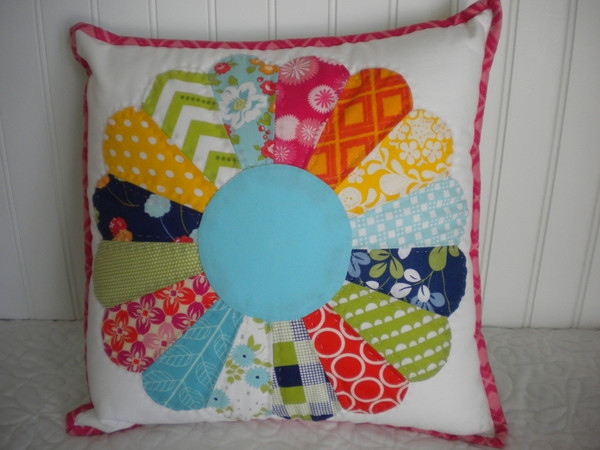 Dresden Plate - Colorful Modern Pillow