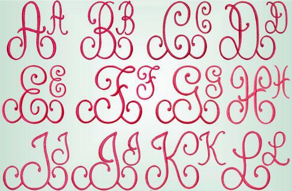 Edies Designs Monograms 3 Embroidery Pattern