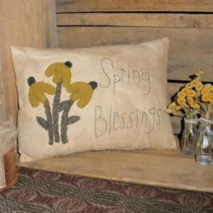 """Spring Blessings"" Appliqued Pillow"