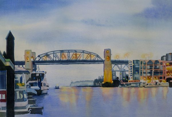 Ferry Dock Painting