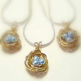 Three Bird's Nest Necklaces