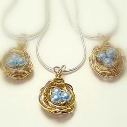 Three Bird's Nest Necklaces