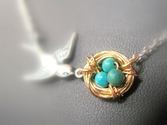 Bird's Nest Necklace Tutorial