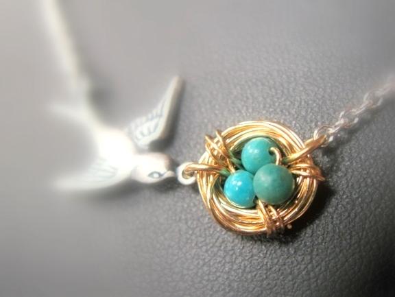 Bird's Nest Necklace Tutorial