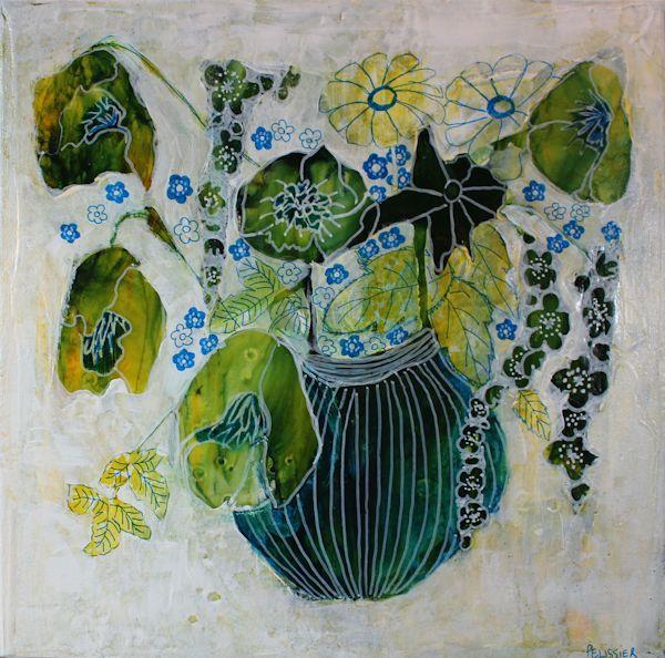 Green Bouquet With Analogous Colors Scheme