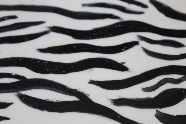 Painted Zebra Stripe Fondant