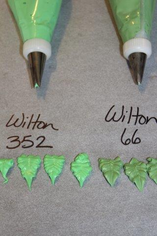 Icing Tips: Wilton 352 and Wilton 66