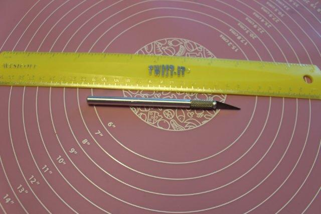 X-Acto Knife and Ruler
