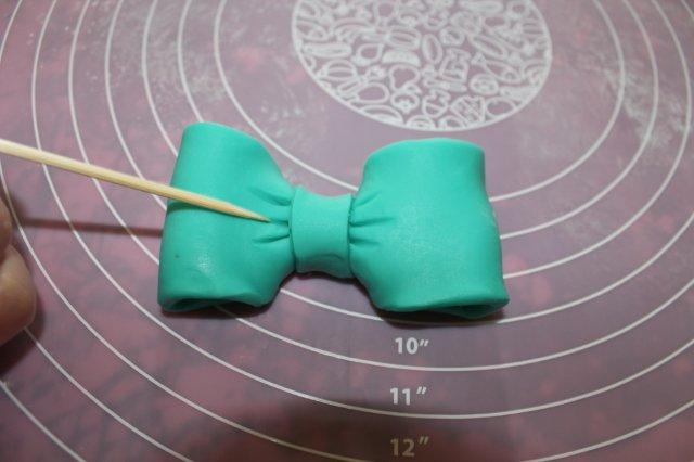Bow Made from Modeling Chocolate