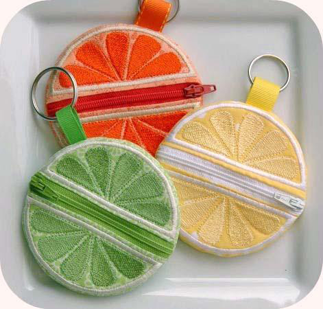 In the Hoop Citrus Coin Pouch