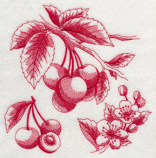 Toile Embroidery Design
