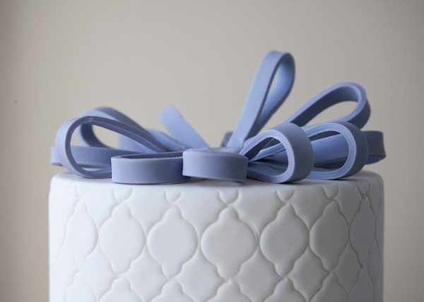 Finishing Touches to Fondant Loop Bows