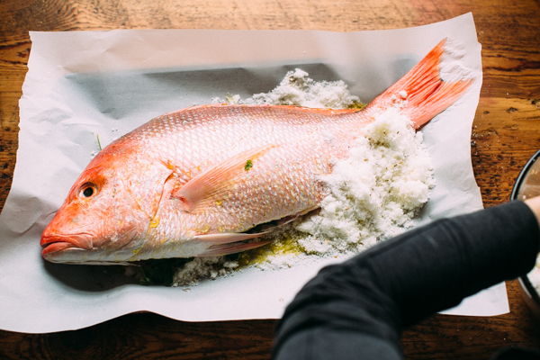 Seasoning Red Snapper for Oven Baked Fish