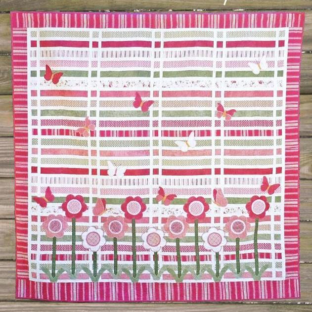Pink Butterfly Garden Quilt