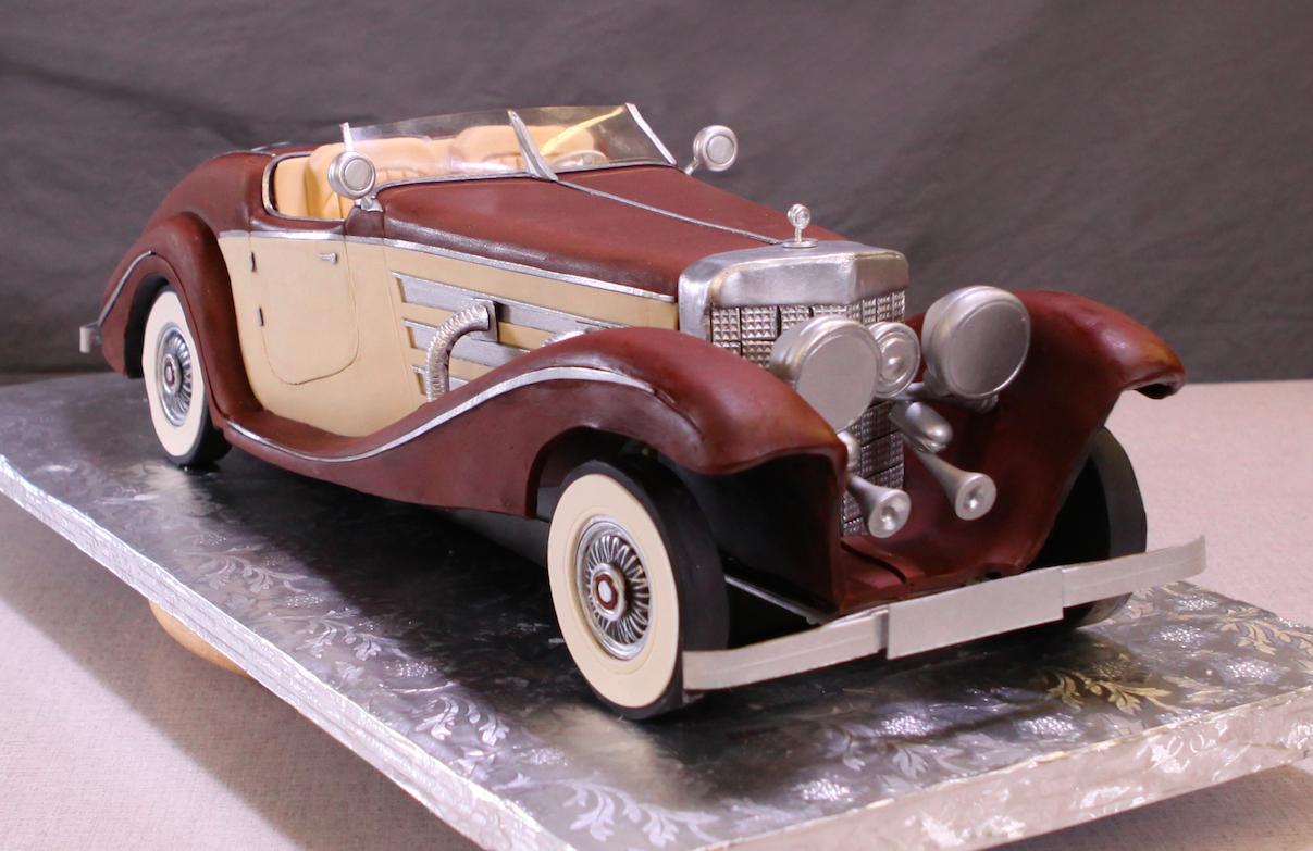 Sculpted 1936 Roadster Cake, Bluprint.com