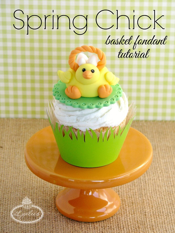 Easter cupcake topper