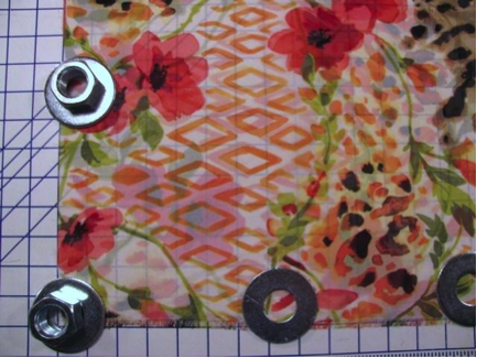 Use Pattern Weights for Cutting Fabric