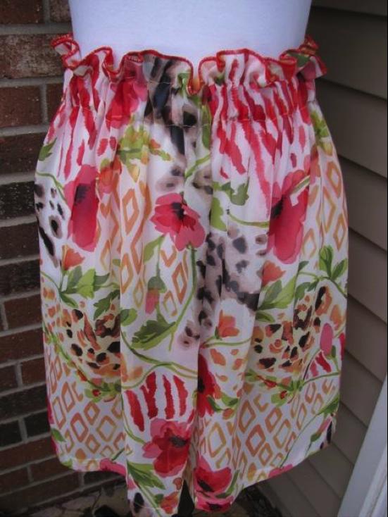 Shirred Skirt: Tutorial on Bluprint.com