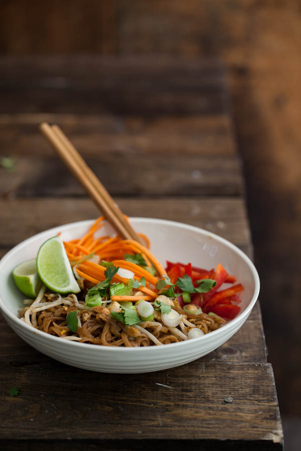 Vegetarian Pad Thai: Finished Dish