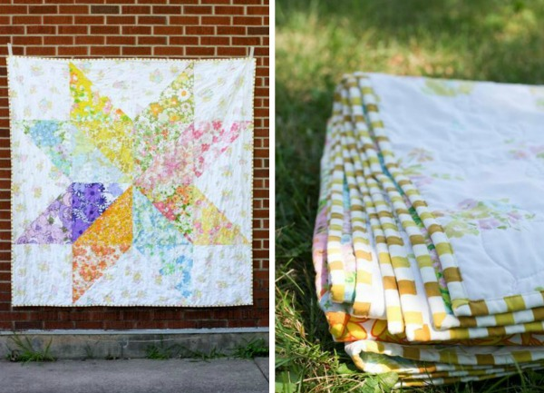 Giant Vintage Star Quilt, on Bluprint