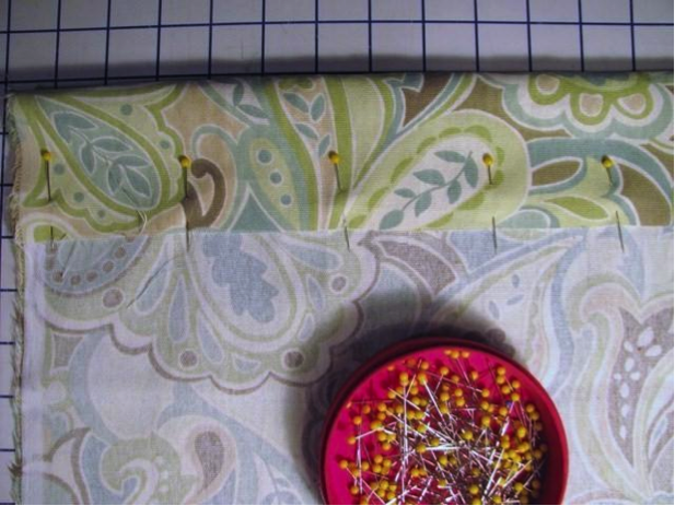 Step 3: Fold and Pin Fabric for Gathering