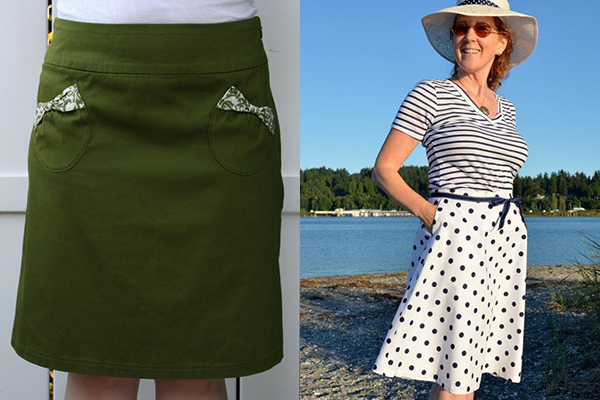 Two Simple A-Line Skirts