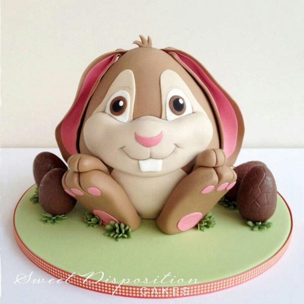 Bunny rabbit cake by Sweet Disposition Cakes