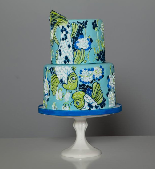 Cake Power Koi Painted Cake