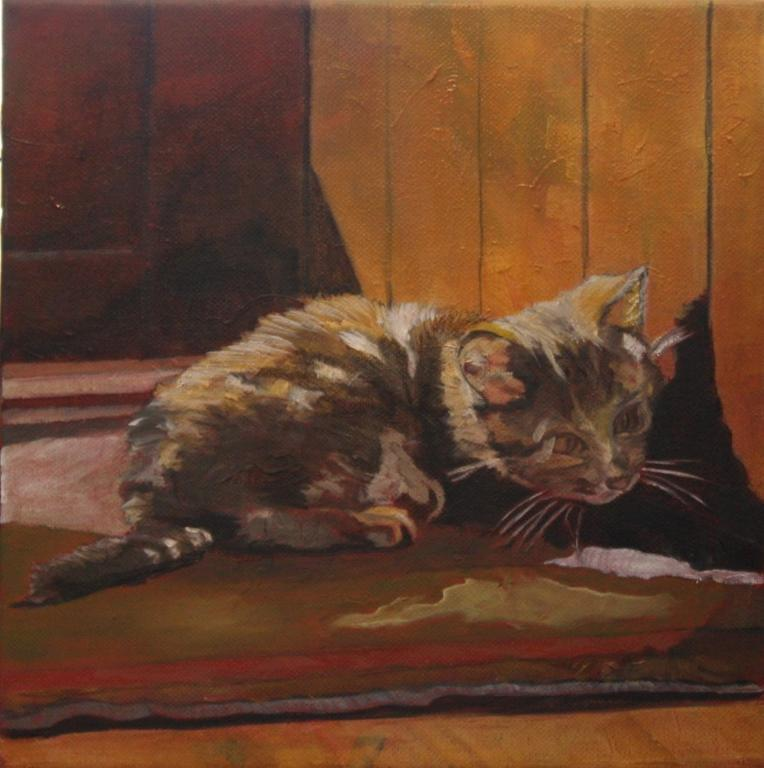 Bluprint Pet Portraits: Painting of Cat Crouching