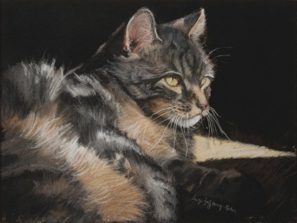 Painting of Cat in the Sun