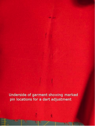 Dart Adjustment on Fabric