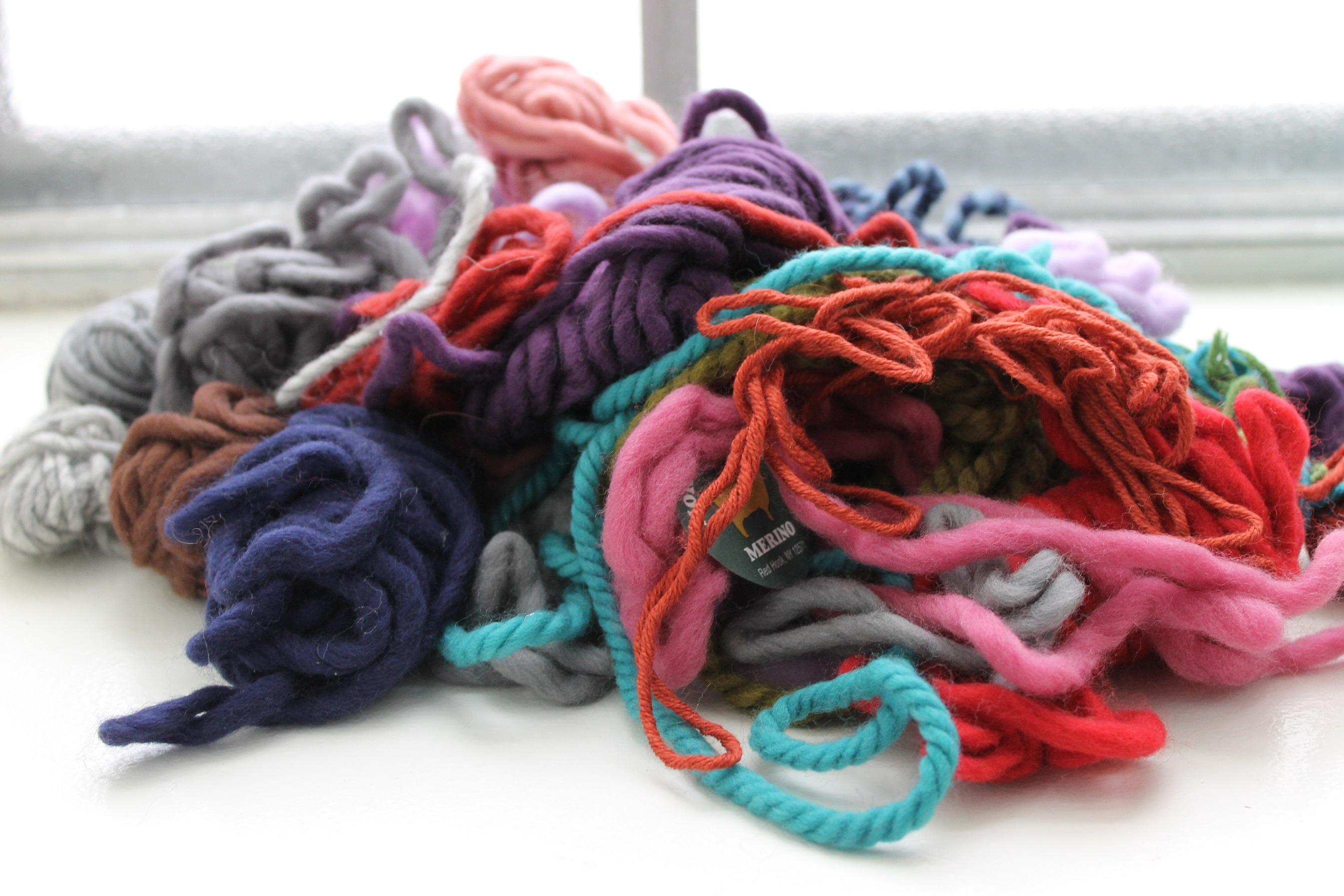 Destash scrap yarn