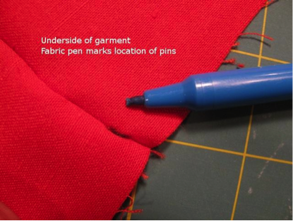Fabric Marked with Fabric Pen