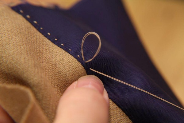 Hand-Stitched Facing
