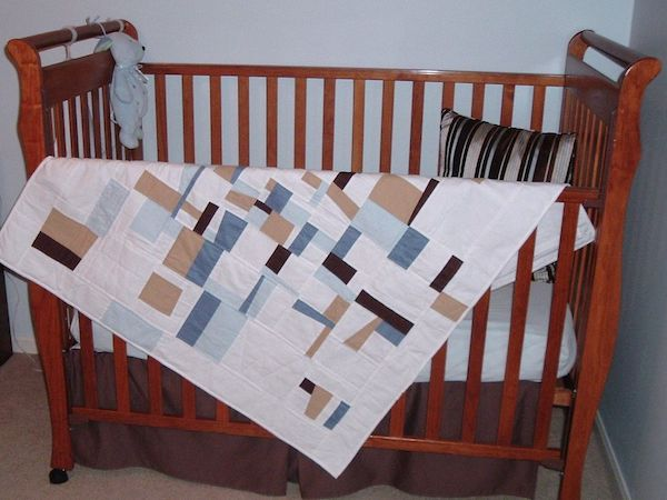 Crazy Quilting Baby Blanket With Pojagi Seams