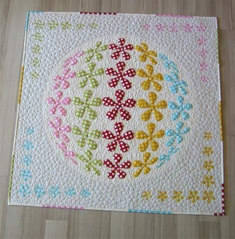 Flower Power Applique Quilt Pattern