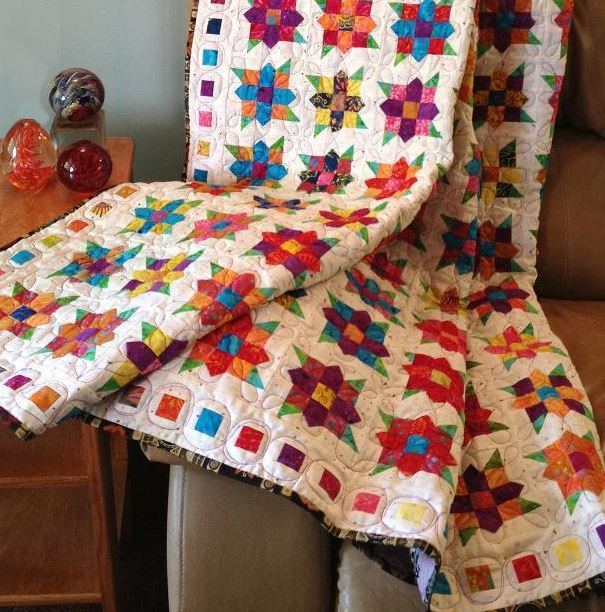 Flowers Squared Quilting Patter on Bluprint.com