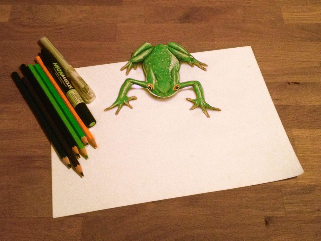 Bluprint Member's Artwork with Frog