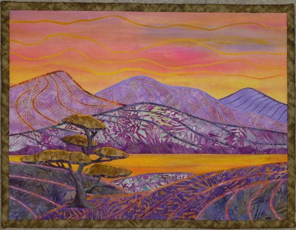 Quilt by Bluprint Member - Colorful Landscape Quilt
