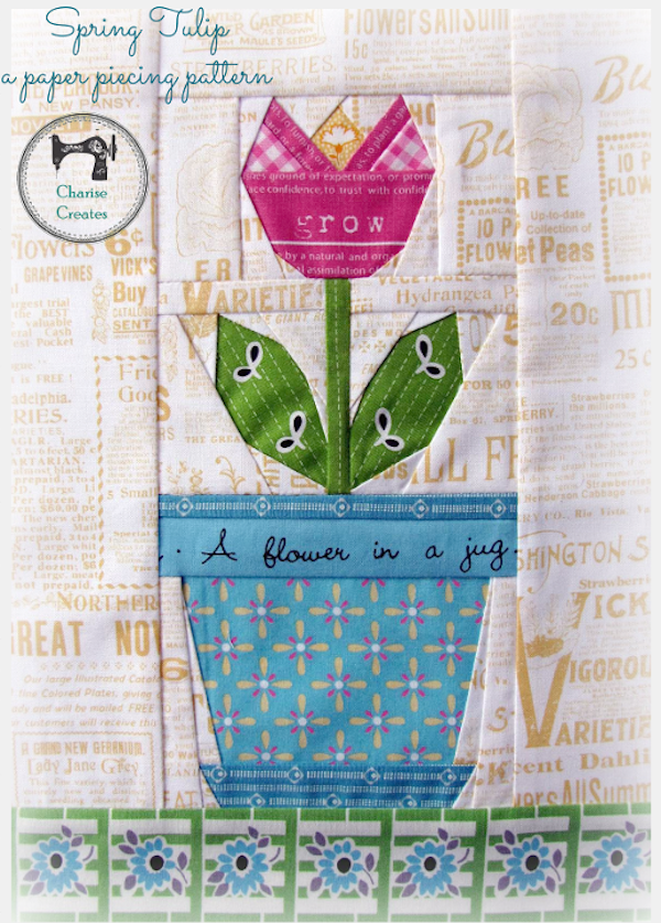 Spring Tulip: A Paper-Piecing Pattern