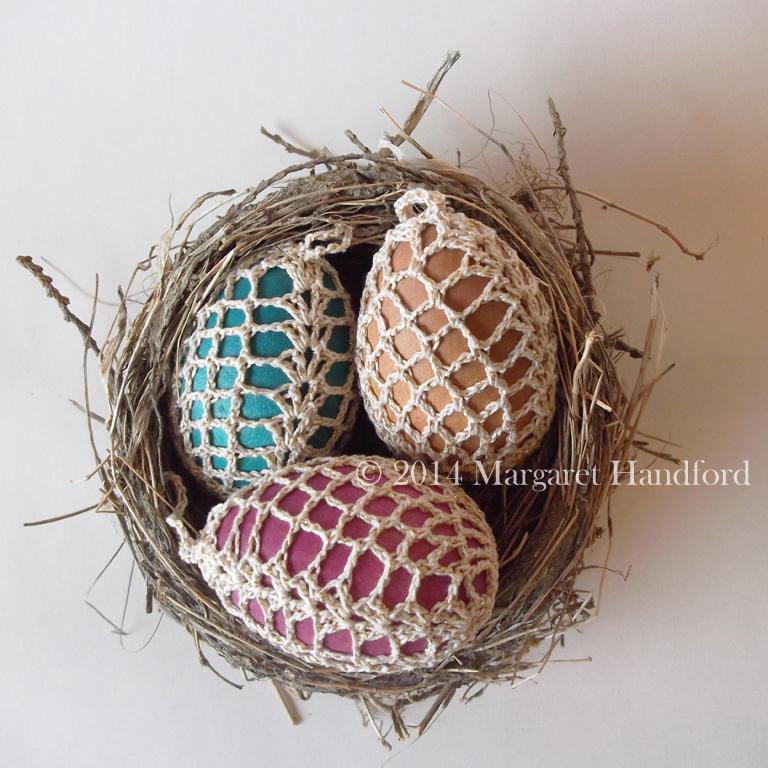 Pineapple lace crochet egg cover