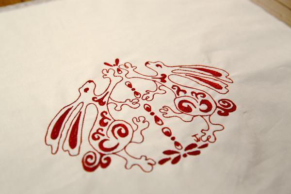 Redwork Plus Fill Embroidery Design