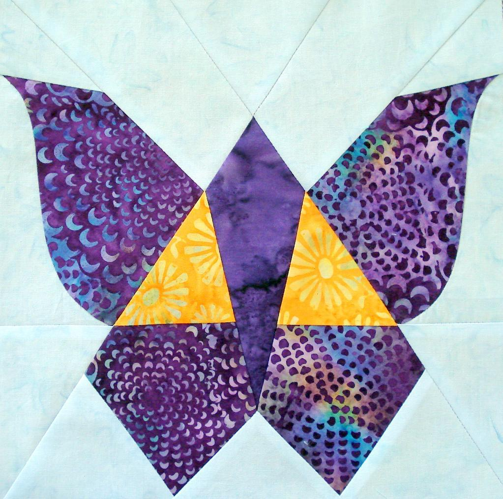 Free Butterfly Quilt Block - available on Bluprint.com
