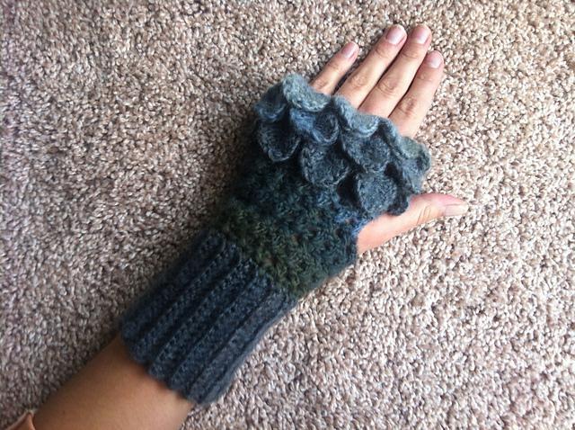 Crocodile stitch wristlets
