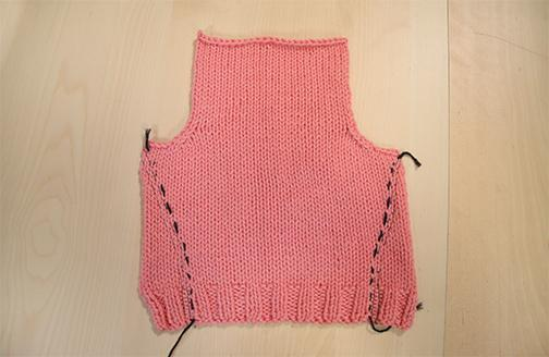 Adding shaping to knitted sweater - www.craftsy.com