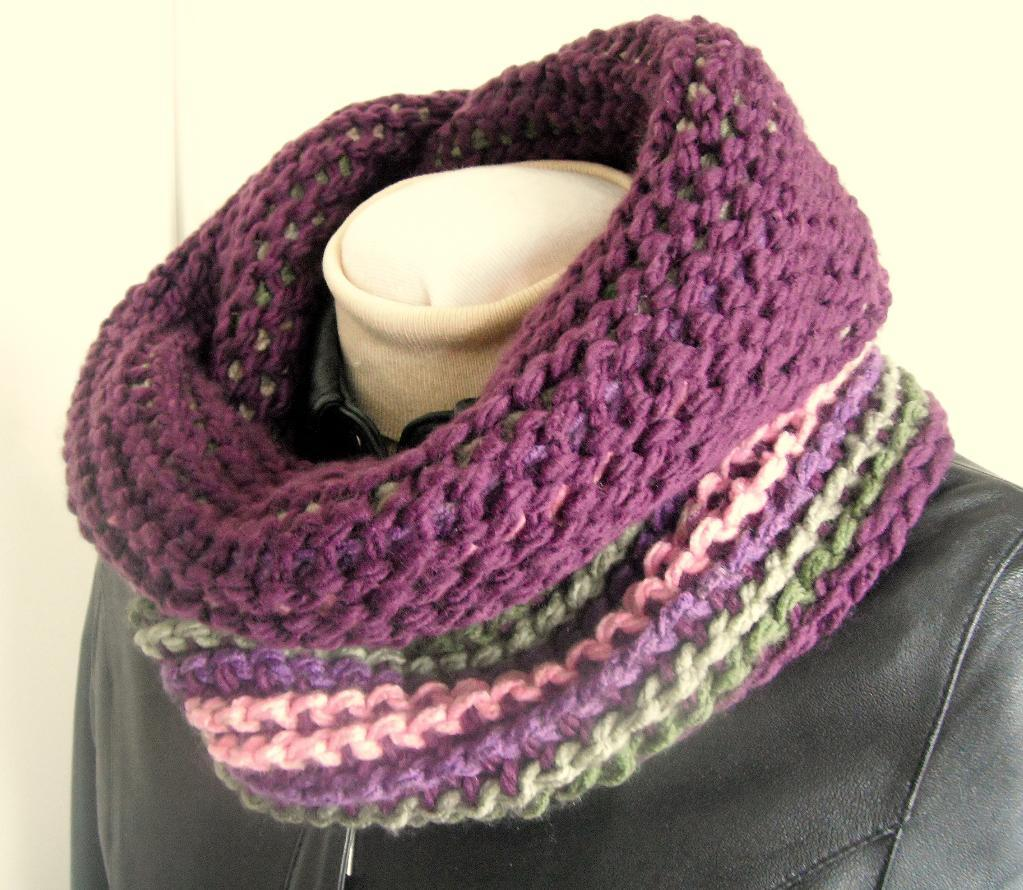 Tunisian infinity scarf