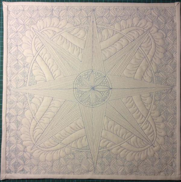 Compass Wholecloth Quilt